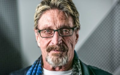 John McAfee is speaking at the BLOCKCHANCE EUROPE 2021